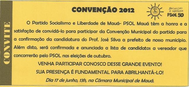 CONVENÇÃO DO PSOL MAUÁ